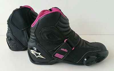 Alpinestars Ladies SMX-1.1 Stella Black/Pink Ride Shoe/Boot Size US 7 EUR 38