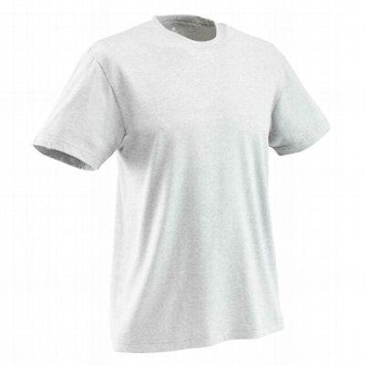 Erkek Sıcak Hava Yoga-Pilates Kıyafetleri Fitness, Jimnastik ve Dans - Organik Pamuk Erkek Yoga/Pilates Tişörtü-Açık Gri DOMYOS - Fitness Kıyafetleri