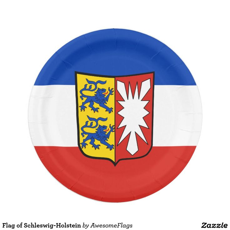 Flag of Schleswig-Holstein 7 Inch Paper Plate