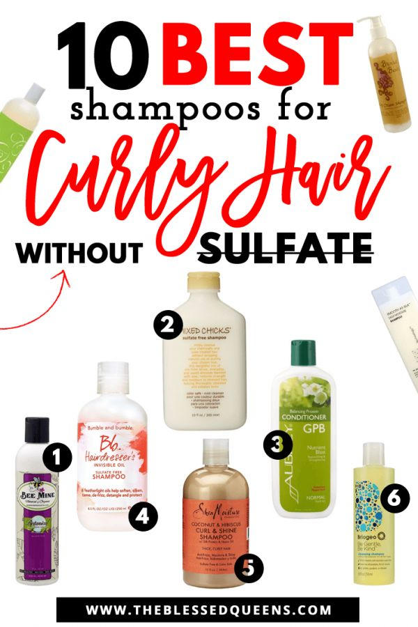 10 Best Shampoos for Curly Hair Without Sulfate! – The Blessed Queens | Natural hair Tips & Tricks
