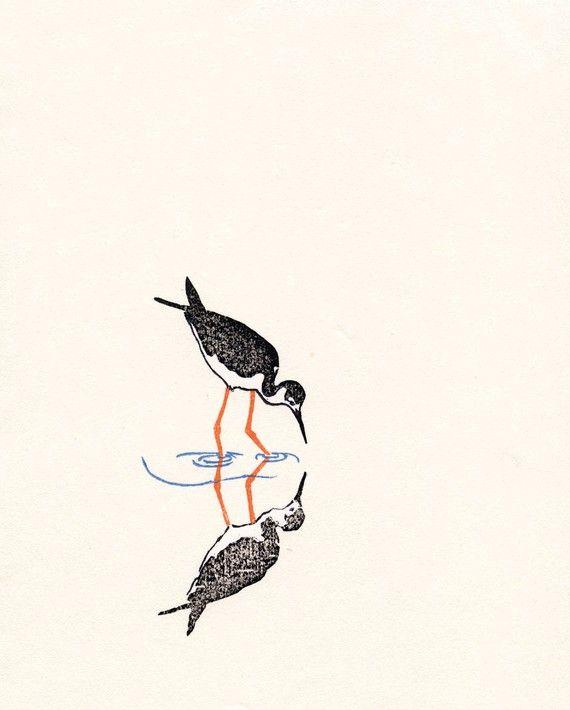 Black-necked Stilt by marissabuschow on Etsy