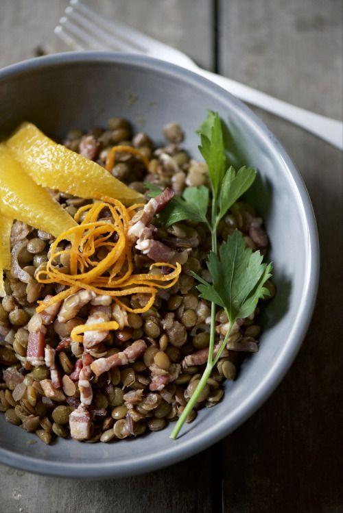 lenticchie stufate all'arancia