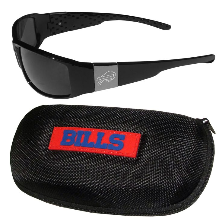 """Checkout our #LicensedGear products FREE SHIPPING + 10% OFF Coupon Code """"Official"""" Buffalo Bills Chrome Wrap Sunglasses and Zippered Carrying Case - Officially licensed NFL product Comes with a hard shell, zippered case with microfiber interior and large team logo on the lid. Maximum UVA/UVB protection Sleek black frames with flex hinges for comfort A must-have for any Buffalo Bills fan - Price: $22.00. Buy now at…"""