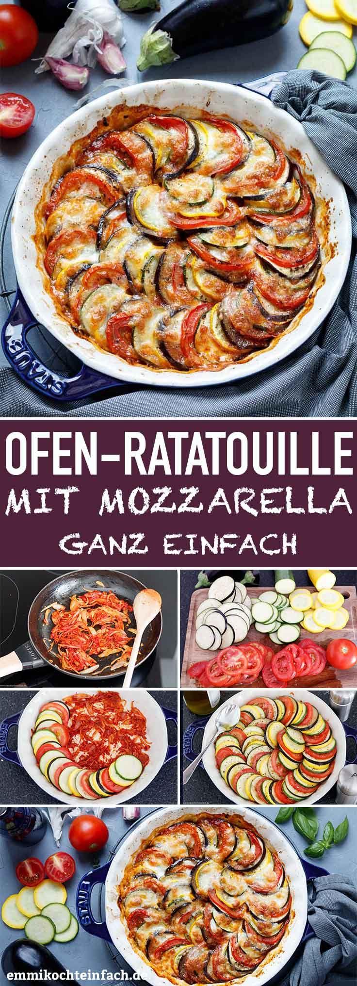 Ratatouille aus dem Ofen mit Mozzarella #gesunde