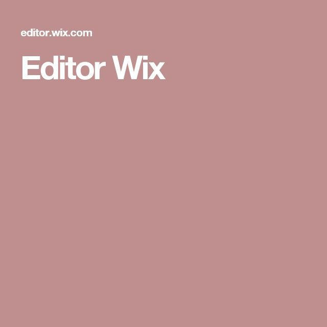 Editor Wix