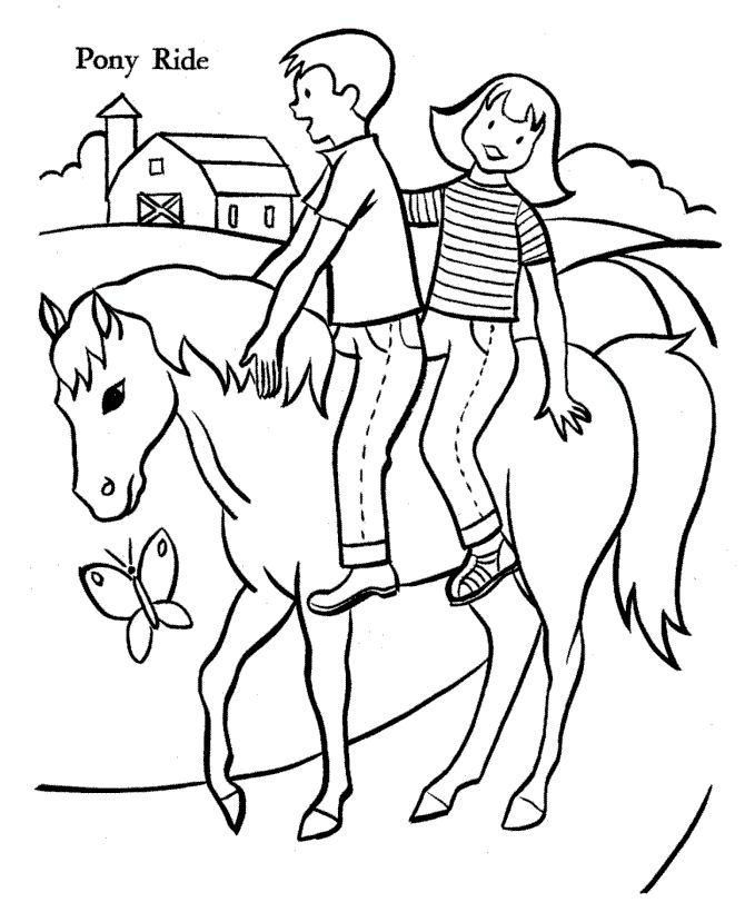 Coloring Page Horses Gif 670 820 Art Crafts Pinterest