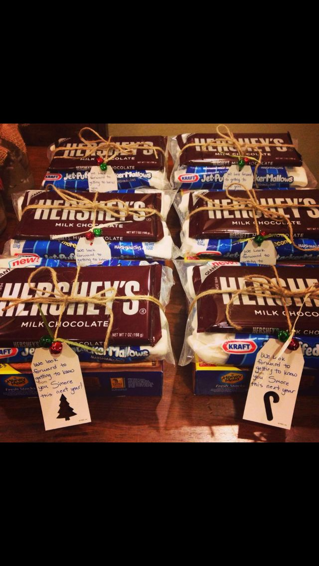 """For our new neighbors! These were fun to put together and deliver! """"Tag says: we look forward to getting to know you S'MORE this next year!"""""""