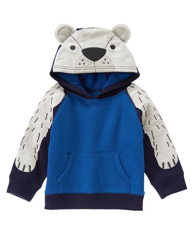 Polar Bear Hoodie at Gymboree (Gymboree 3m-5T)
