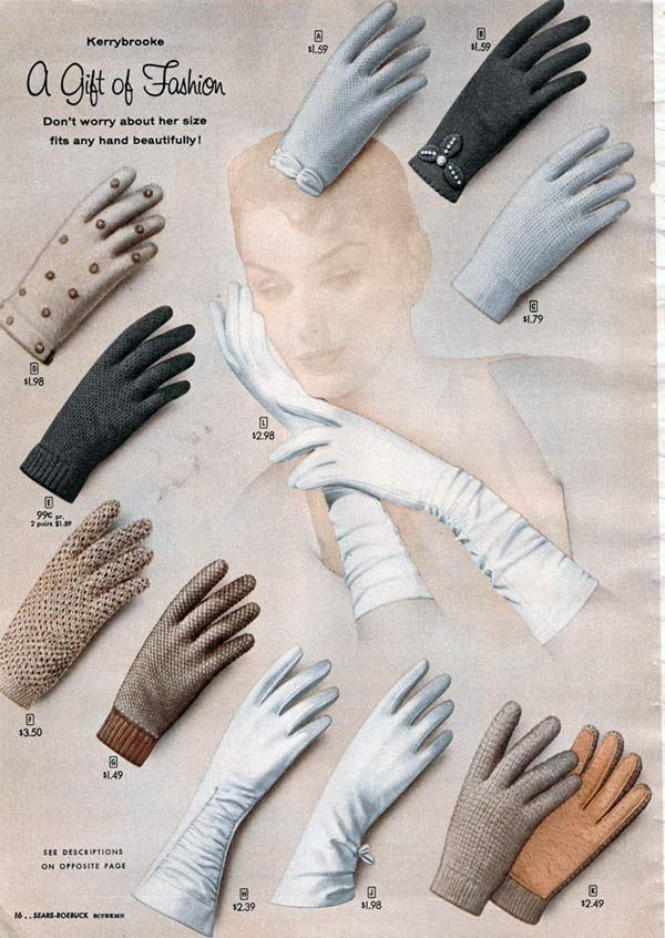 1950s Gloves: Etiquette, Styles, Trends & Pictures