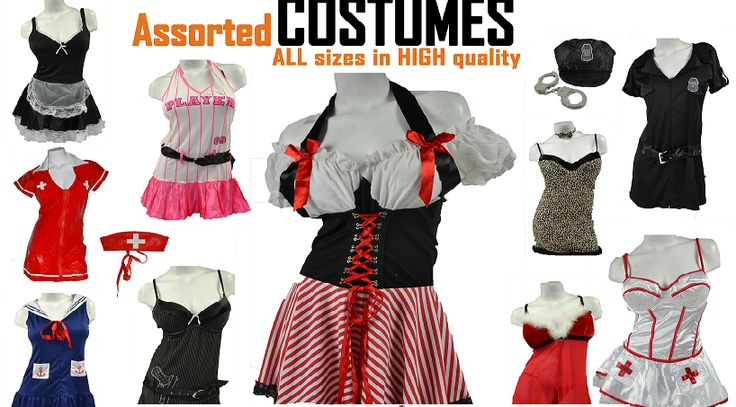 Wholesale Costumes 24 Assorted Pieces
