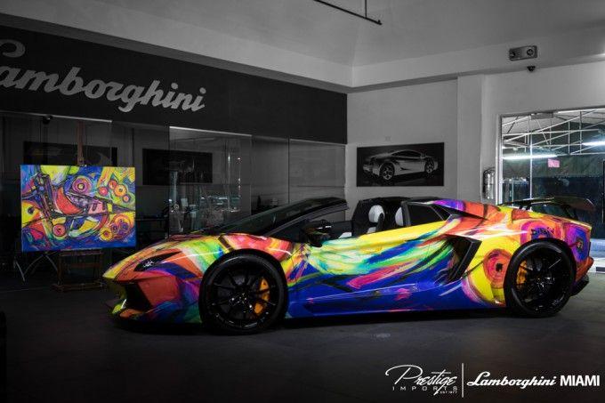 Duaiv Lamborghini Aventador Roadster Art Car At Lamborghini Miami  Duaiv Slider Facebook11k Twitter20 Pinterest4 Linke...   Pinterest    Lamborgu2026