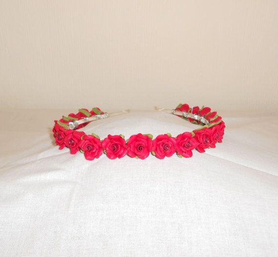 Red Roses Headband by epochbeadsUK on Etsy, £20.00