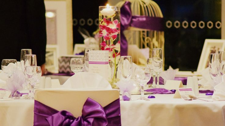 Cadbury Purple Orchid Elegance for an April Wedding.