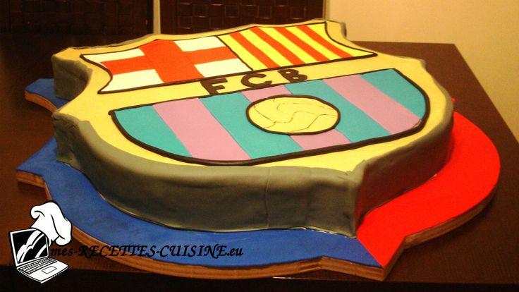 Recettes traditionnelles et cuisine nouvelle - Forum - Élégance de nos gâteaux - Gâteau écusson du Barça