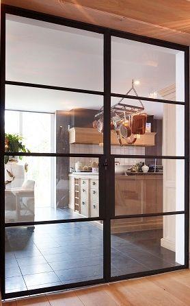 1000 images about stalen ensuite en buiten deuren on pinterest interieur steel doors and ramen - Afscheiding glas keuken woonkamer ...