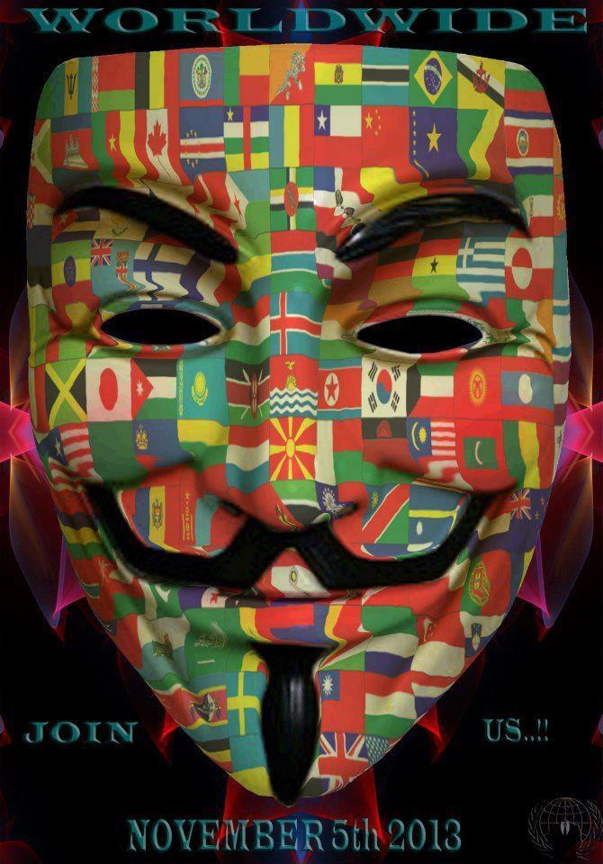 Worldwide join us November 5th 2013 | Anonymous ART of Revolution