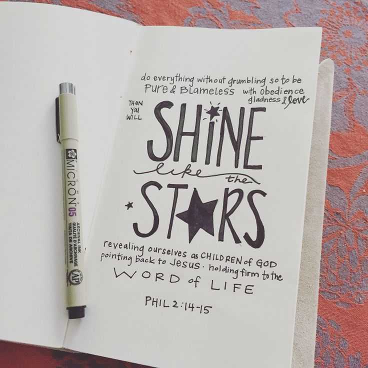Shine like the stars Philippians 2:14-15 Paul's letter of encouragement despite his circumstances of being in jail - always pointing back to Jesus