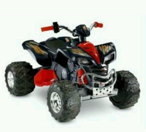 Kid's 4 Wheeler ATV Quad Battery Powered Boys Red Power Wheels Fisher Price Car #fisherprice