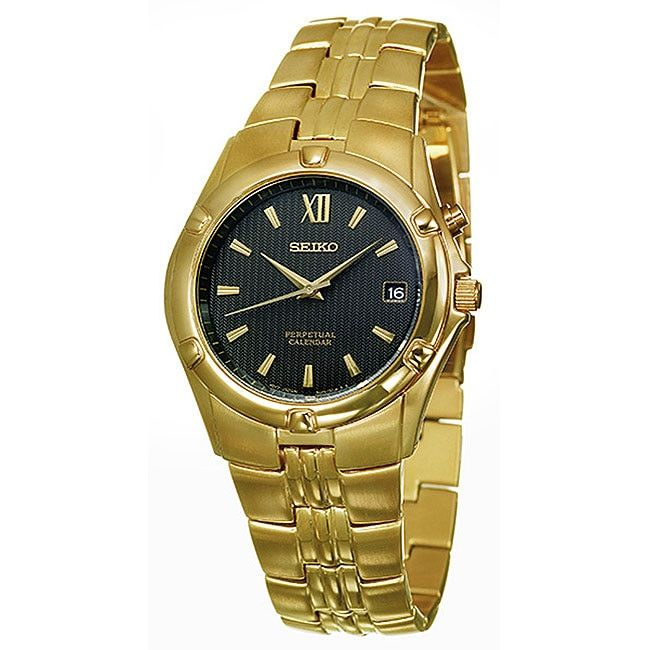 Seiko Men's Perpetual Calendar Goldplated Watch