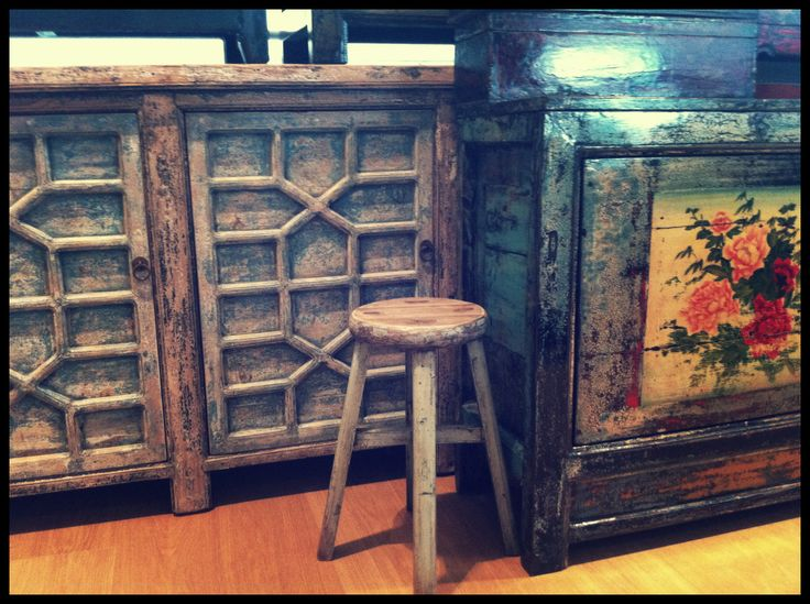 Textured doors are a feature of this cabinet, aqua blue, pretty flowers all these found in store at SHACK Artarmon HQ or SHACK Moore Park Supa Centa. Unique pieces.