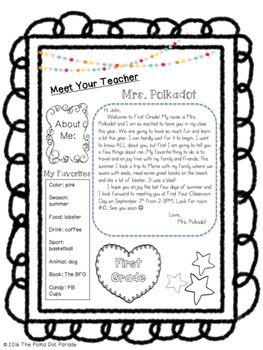 Editable Meet the Teacher Welcome letter                                                                                                                                                                                 Más
