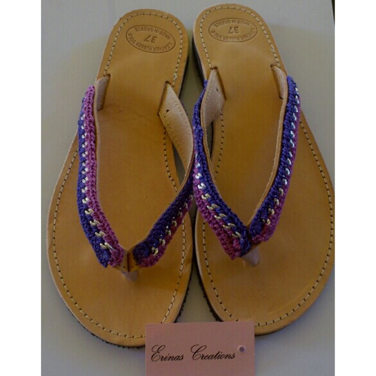 """Purple"" Handmade Sandals"