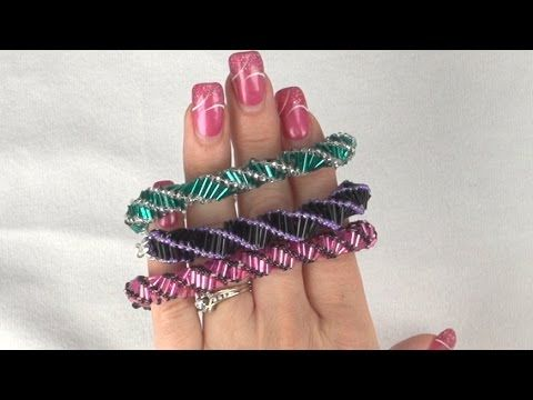Tina teaches you how to make a bugle bead Russian Spiral bracelet and 3 ways to clasp it. They are beautiful when they are done and are great for beginners. ...