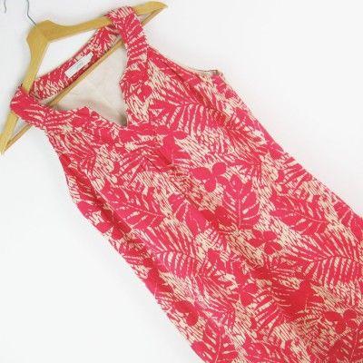 Lniana sukienka z pęknięciem John Rocha r.40