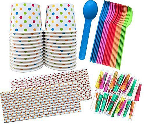 These happy polka dot cups are the star of this ice cream sundae kit. Each kit comes with 24 cups, spoons and paper umbrellas as well as 25 polka dot paper straws.  - http://kitchen-dining.bestselleroutlet.net/product-review-for-outside-the-box-papers-ice-cream-sundae-kit-polka-dot-paper-cups-plastic-spoons-polka-dot-paper-straws-paper-umbrellas-24-of-cups-spoons-umbrellas-25-straws-blue-pink-ora/