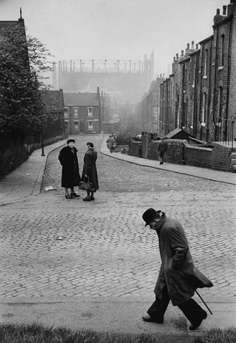 """""""Man in a hurry""""..Leeds, 1954..Photo by Marc Riboud.."""
