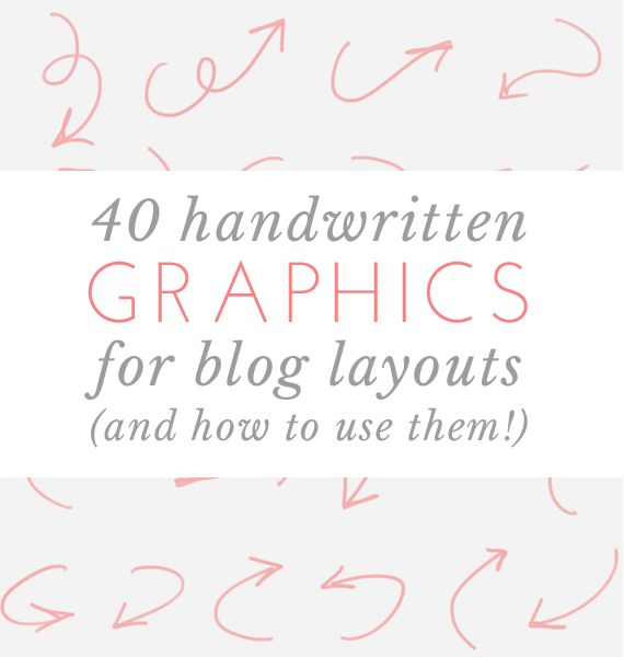 free download - 40 handwritten graphics for blog layouts | via vmac+cheese