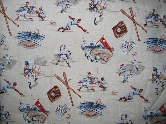 Vintage Baseball Fabric Alexander Henry Baseball Fabric