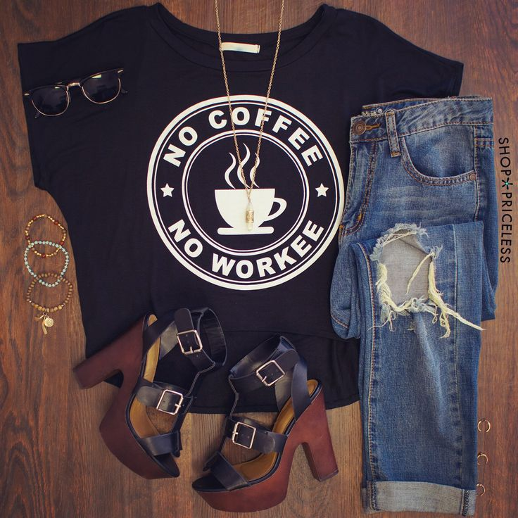 No Coffee No Workee Top