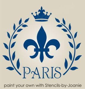 Paris STENCIL French Fleur Floral Wreath Fluer Chic Shabby Wall Decor Crafts
