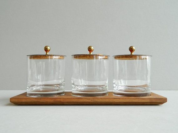 Midcentury Butterfly Condiment Set with Enamel by MonkiVintage, $48.00