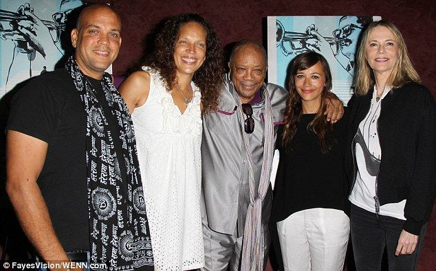 Quincy Jones, daughter Rashida and ex-wife Peggy Lipton turn out ...