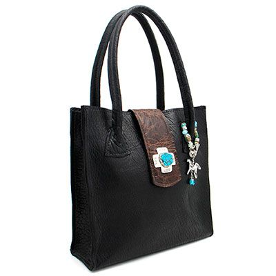 Eternal Perspective Rebecca Two-Tone Buffalo Handbag at Maverick Western Wear