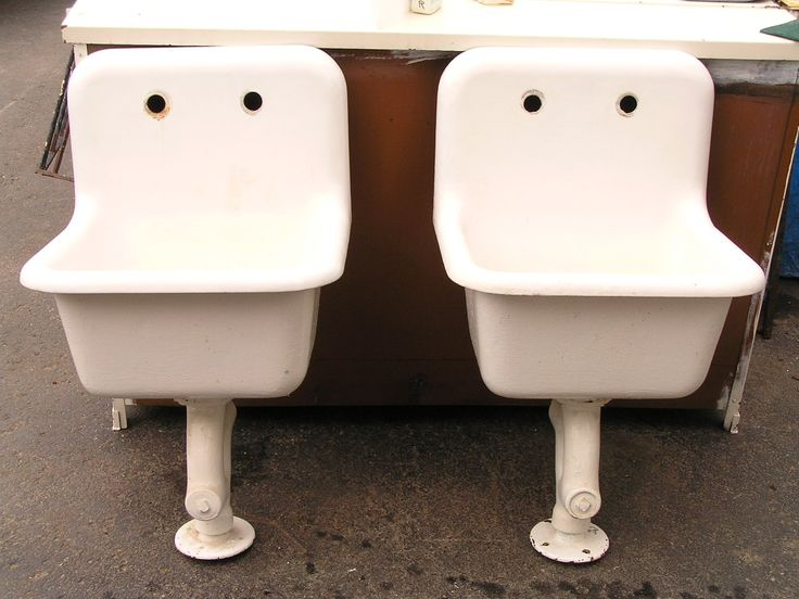 Perfect Old School Cast Iron Utility Sinks For Bathrooms.