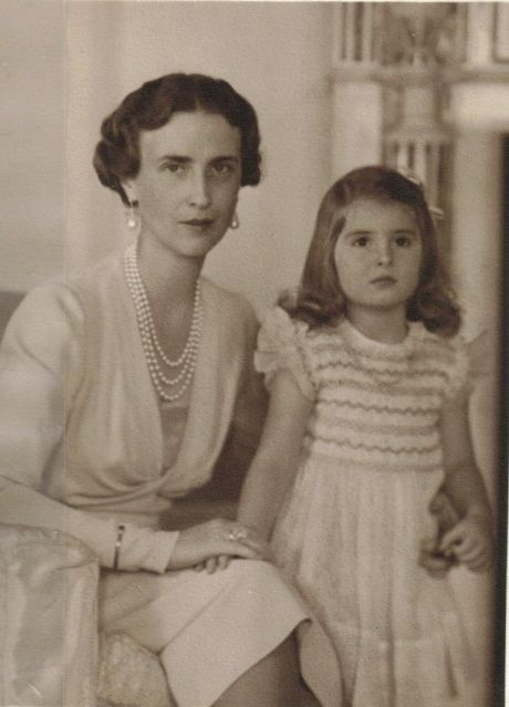 Olga of Greece and her daughter, Princess Elisabeth of Yugoslavia.