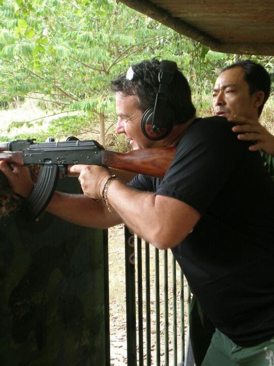 Cu Chi Tunnels - near Ho Chi Minh City - shooting range - Vietnam
