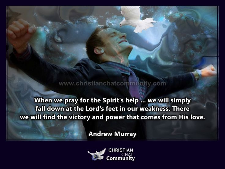 The Holy Spirit's Help - Andrew Murray - Christian Chat Community