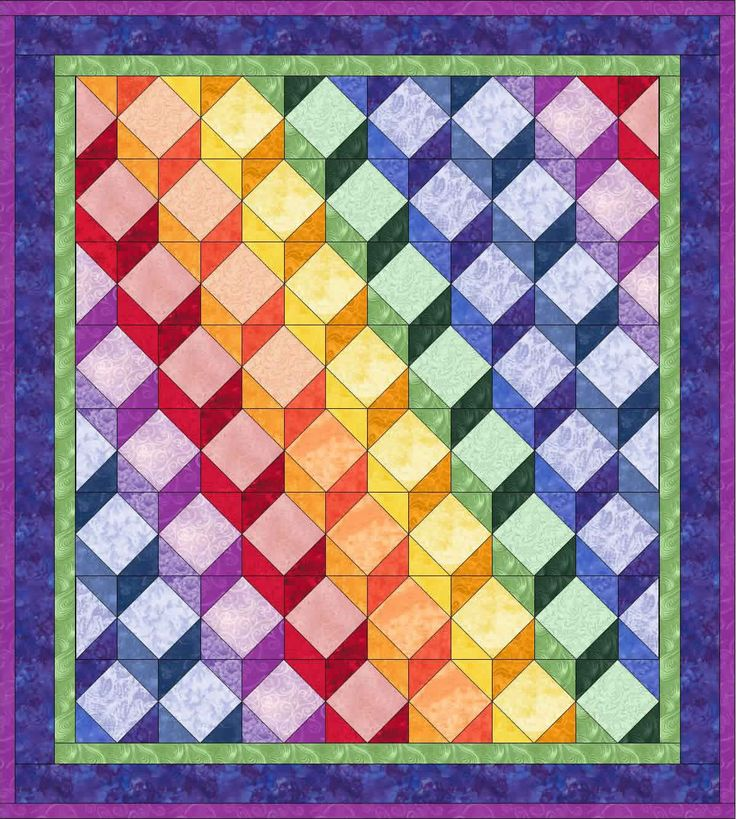 32 best Afghans -- Tumbling Blocks - Crochet images on Pinterest Bedspreads, Crochet afghans ...