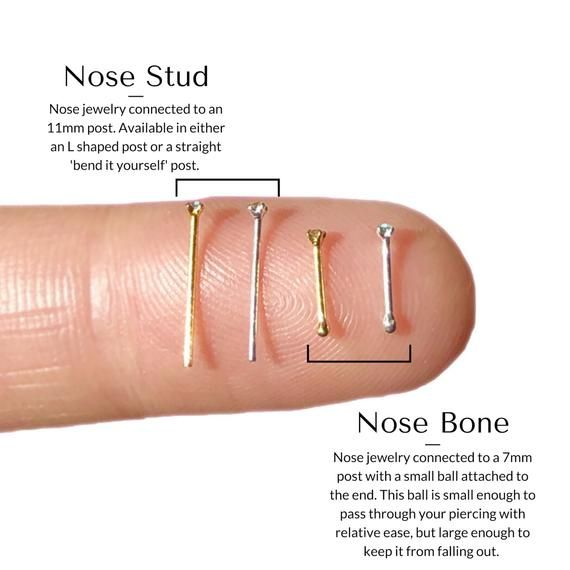 Cute nose stud Solid gold nose stud 18g,20g,22g Minimalist nose stud Nose piercing jewelry L bend Screw 14k nose stud Tiny nose stud