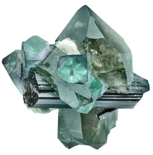 looks like tourmaline and quartz