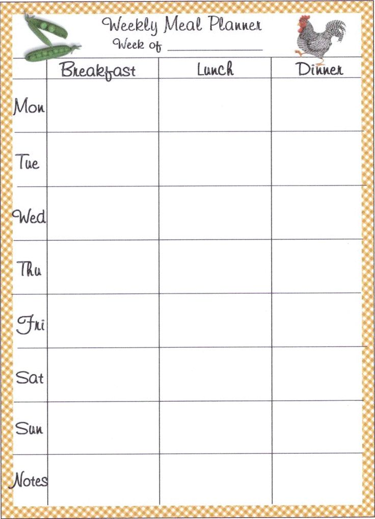 Meal planner template planning meals is one of the ...