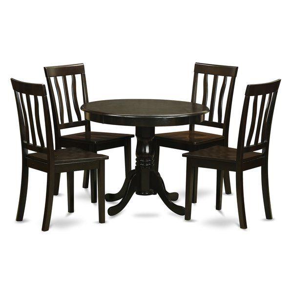 Badillo 5 Piece Dining Set Round Dining Table Sets Round Dining