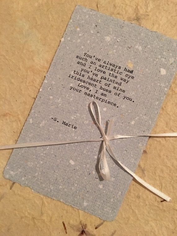 Romantic Poem love poem for him or for her Your by NelliesNifties