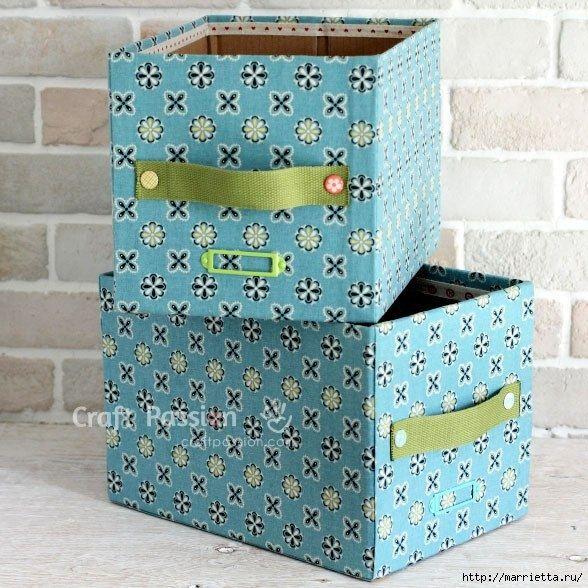 Ящики для хранения из картонных коробок