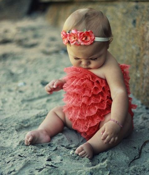 Baby Flower Girl Ruffle Dress