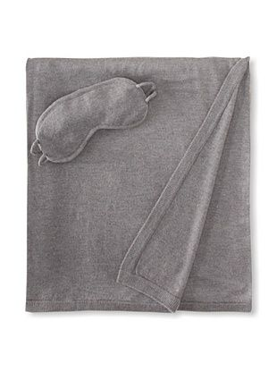 65% OFF a & R Cashmere Wool-Blend Travel Set, Heather Grey